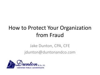 How to Protect Your Organization from Fraud