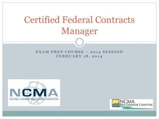 Certified Federal Contracts Manager