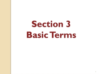Section 3 Basic Terms