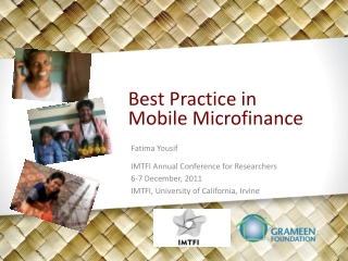 Best Practice in Mobile Microfinance