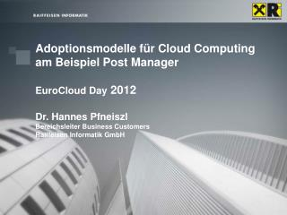 Agenda Cloud Supply Erwartungen der Analysten Was Provider in  Cloud  Services investieren Cloud  Demand Nutzerentschei