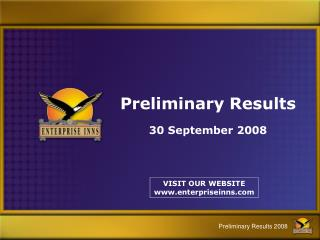 preliminary results 30 september 2008