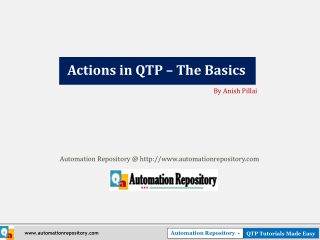 Actions in QTP – The Basics