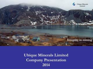 Ubique Minerals Limited