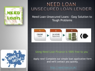 Do You Need Unsecured Loan in UK! Apply here