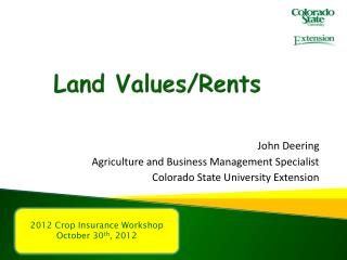 Land Values/Rents