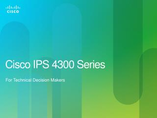 Cisco IPS 4300 Series
