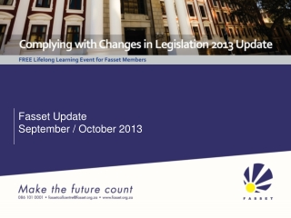 Fasset Update September / October 2013