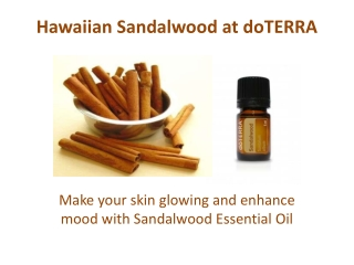 Hawaiian Sandalwood Essential Oil at doTERRA