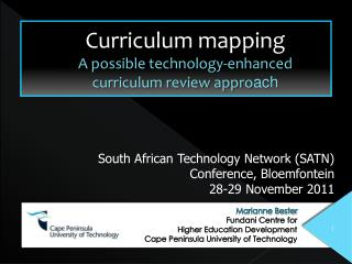 Curriculum mapping A possible technology-enhanced curriculum review appro ach