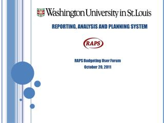 REPORTING, ANALYSIS AND PLANNING SYSTEM