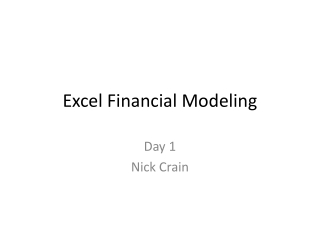 Excel Financial Modeling
