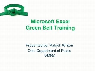 Microsoft Excel  Green Belt Training