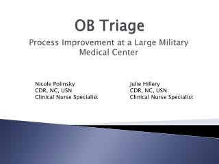 OB Triage