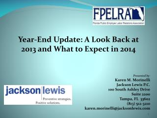 Year-End  Update: A Look Back at 2013 and What to Expect in 2014