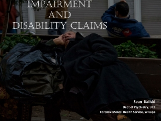 IMPAIRMENT  and  Disability  Claims