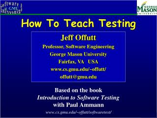 How To Teach Testing