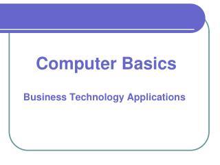 Computer Basics