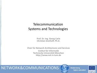 Telecommunication Systems and Technologies