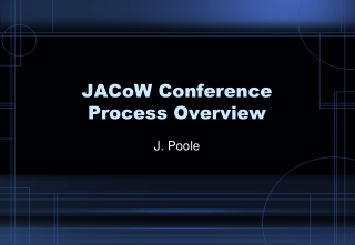 JACoW Conference Process Overview