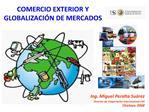 comercio exterior y globalizaci