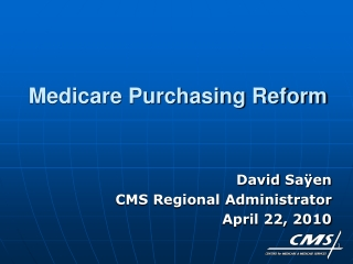 Medicare Purchasing Reform