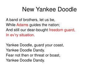 new yankee doodle