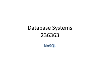 Database Systems 236363