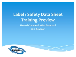 Label / Safety Data Sheet Training Preview