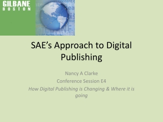 SAE's Approach to Digital Publishing