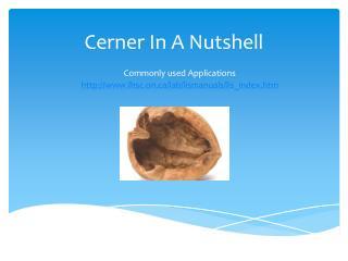 Cerner In A Nutshell