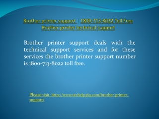 Brother printer support | 1800-713-8022 Toll Free | Brot