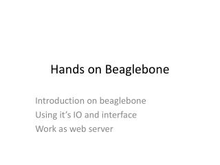 Hands on  Beaglebone