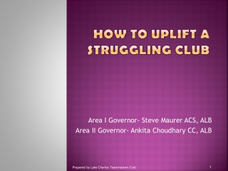 How To Uplift a Struggling Club