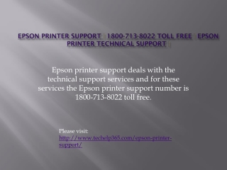 Epson printer support | 1800-713-8022 Toll Free | Epson prin