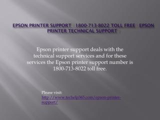 Epson printer support | 1800-713-8022 Toll Free | Epson prin