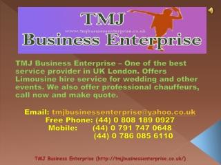 Luxury Wedding Cars London - TMJ Business Enterprise