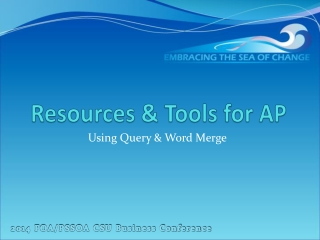 Resources & Tools for AP
