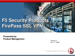 F5 Security Products FirePass SSL VPN