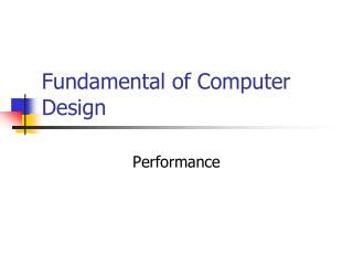 Fundamental of Computer Design