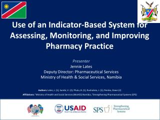 Use of an Indicator-Based System for Assessing, Monitoring, and Improving Pharmacy Practice