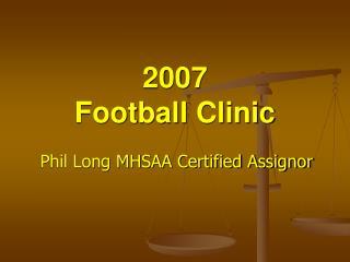2007   football clinic