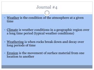Journal # 4
