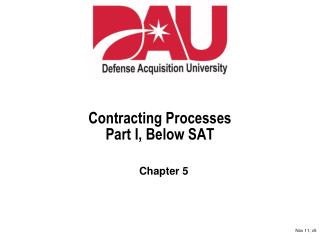 Contracting Processes Part I, Below SAT