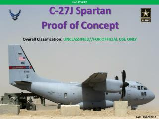 C-27J Spartan Proof of Concept