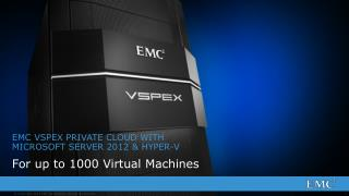 EMC  VSPEX PRIVATE CLOUD WITH MICROSOFT SERVER 2012 & HYPER-V