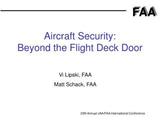 aircraft security: beyond the flight deck door