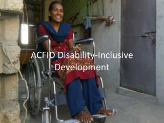 ACFID Disability-Inclusive Development