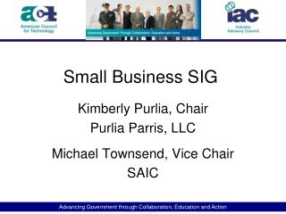 Small Business SIG