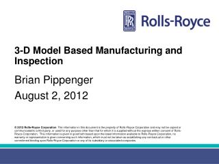 3-D Model Based Manufacturing and Inspection